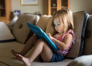 children on screens