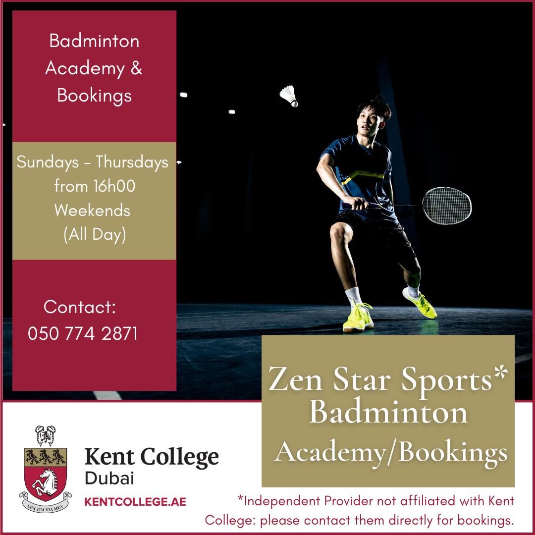 badminton clubs near me dubai